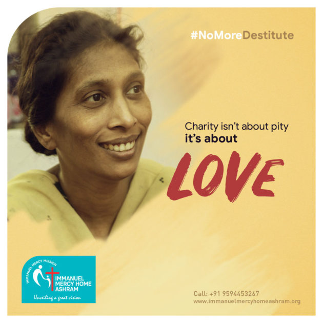 Charity isn't about pity it's about Love.